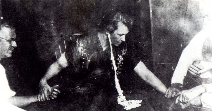 ectoplasm at a seance
